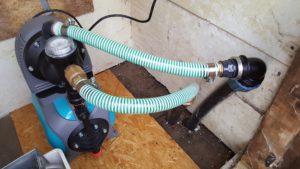 tatataaa - die neue Pumpe nebst der zig Anschlußreduzierungen